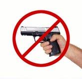 Πυροβόλο που επιτρέπεται κανένα Στοκ Φωτογραφίες