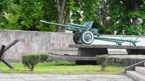 Πυροβόλο πυροβολικού του 2$ου παγκόσμιου πολέμου Στοκ φωτογραφία με δικαίωμα ελεύθερης χρήσης
