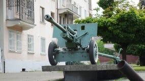 Πυροβόλο πυροβολικού του 2$ου παγκόσμιου πολέμου Στοκ φωτογραφίες με δικαίωμα ελεύθερης χρήσης