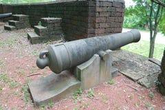Πυροβόλο στο φρούριο Noen Wong Στοκ Φωτογραφία