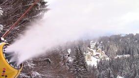 Πυροβόλο χιονιού απόθεμα βίντεο