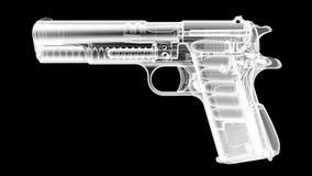 Πυροβόλο όπλο ακτίνας X Στοκ φωτογραφία με δικαίωμα ελεύθερης χρήσης
