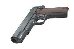 Πυροβόλο όπλο που απομονώνεται στο λευκό Στοκ Εικόνες