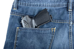 Πυροβόλο όπλο σε μια τσέπη Στοκ Εικόνες