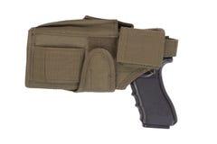 Πυροβόλο όπλο χεριών και τακτικό hoster στοκ εικόνες