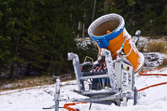 Πυροβόλο όπλο χιονιού Στοκ Εικόνες