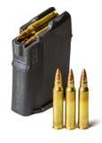 Πυρομαχικά για τα επιθετικά τουφέκια Στοκ φωτογραφία με δικαίωμα ελεύθερης χρήσης