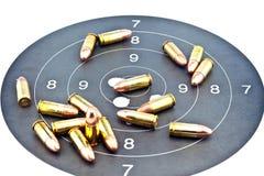 πυρομαχικά 9mm Luger Στοκ φωτογραφίες με δικαίωμα ελεύθερης χρήσης