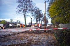 Πυροσβέστες και πυροσβεστική αντλία σε ένα σημαντικό γεγονός Στοκ Εικόνες