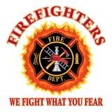 Πυροσβέστες παλεύουμε τι φοβάστε απεικόνιση αποθεμάτων