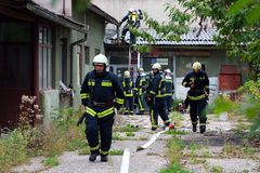 πυροσβέστες Στοκ φωτογραφίες με δικαίωμα ελεύθερης χρήσης