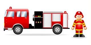πυροσβέστης αριθμού εικ& διανυσματική απεικόνιση