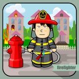 Πυροσβέστης επαγγέλματος προσώπων Στοκ φωτογραφία με δικαίωμα ελεύθερης χρήσης