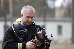 Πυροσβέστης και σωτήρας Στοκ Φωτογραφία