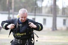 Πυροσβέστης και σωτήρας Στοκ Φωτογραφίες