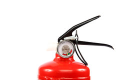 Πυροσβεστήρας σε ένα άσπρο υπόβαθρο Στοκ φωτογραφία με δικαίωμα ελεύθερης χρήσης