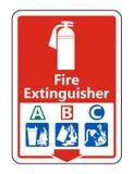 πυροσβεστήρας συμβόλων συμβόλων ένα σημάδι Β Γ στο άσπρο υπόβαθρο, διανυσματική απεικόνιση ελεύθερη απεικόνιση δικαιώματος