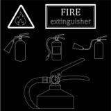 Πυροσβεστήρες σχεδίων Μόνο ένα κτύπημα Στοκ φωτογραφίες με δικαίωμα ελεύθερης χρήσης