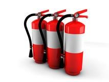 Πυροσβεστήρες Στοκ Εικόνες