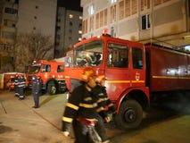 Πυροσβεστικά οχήματα απόθεμα βίντεο