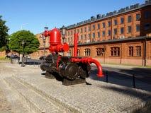 Πυροσβεστική αντλία και σοφίτες του εργοστασίου παλαιού Scheibler Στοκ Φωτογραφίες