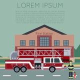 Πυροσβεστικός σταθμός Banner5 απεικόνιση αποθεμάτων