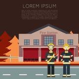 Πυροσβεστικός σταθμός Banner1 απεικόνιση αποθεμάτων