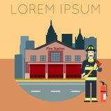 Πυροσβεστικός σταθμός Banner10 διανυσματική απεικόνιση