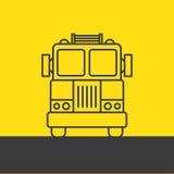 Πυροσβεστικό όχημα, σκιαγραφία Στοκ φωτογραφίες με δικαίωμα ελεύθερης χρήσης