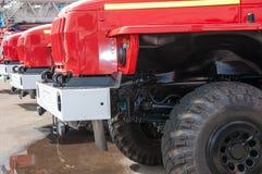 Πυροσβεστικό όχημα στη βιασύνη Στοκ Εικόνες