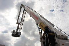 Πυροσβεστικό όχημα στη βιασύνη Στοκ Φωτογραφίες