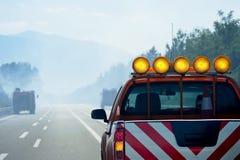 Πυροσβεστικό όχημα στη δράση Στοκ Φωτογραφία