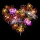 Πυροτέχνημα καρδιών Στοκ Φωτογραφίες