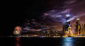 πυροτέχνημα στο Σικάγο Στοκ φωτογραφίες με δικαίωμα ελεύθερης χρήσης