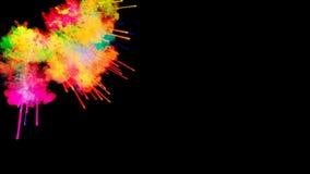 Πυροτέχνημα του χρώματος, έκρηξη της ζωηρόχρωμης σκόνης που απομονώνεται στο μαύρο υπόβαθρο τρισδιάστατη ζωτικότητα ως ζωηρόχρωμη ελεύθερη απεικόνιση δικαιώματος