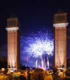 Πυροτέχνημα Plaza de Espana Στοκ Φωτογραφίες