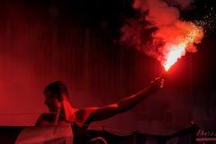 Πυροτέχνημα Ultras στοκ εικόνες με δικαίωμα ελεύθερης χρήσης