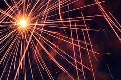 πυροτεχνήματα ανασκόπηση& Στοκ φωτογραφία με δικαίωμα ελεύθερης χρήσης