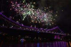 πυροτεχνήματα γεφυρών Στοκ Εικόνες