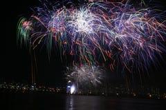 πυροτεχνήματα διεθνή Στοκ εικόνα με δικαίωμα ελεύθερης χρήσης