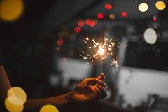 Πυροτεχνήματα εκμετάλλευσης γυναικών στοκ φωτογραφία με δικαίωμα ελεύθερης χρήσης