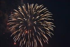 Πυροτεχνήματα ενάντια στο σκοτεινό ουρανό Στοκ φωτογραφία με δικαίωμα ελεύθερης χρήσης