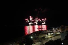 Πυροτεχνήματα εν πλω στοκ φωτογραφία με δικαίωμα ελεύθερης χρήσης