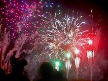 Πυροτεχνήματα επιθυμιών Στοκ εικόνα με δικαίωμα ελεύθερης χρήσης