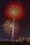 Πυροτεχνήματα ημέρας της ανεξαρτησίας Στοκ Φωτογραφίες