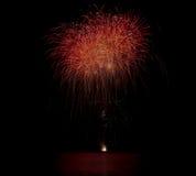 Πυροτεχνήματα ΗΠΑ Στοκ εικόνες με δικαίωμα ελεύθερης χρήσης