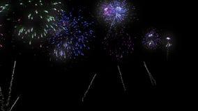 Πυροτεχνήματα διακοπών απόθεμα βίντεο