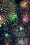 πυροτεχνήματα κολάζ Στοκ Εικόνες