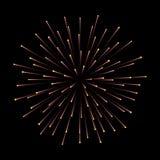 Πυροτεχνήματα νέο έτος εορτασμού Εορταστική διακόσμηση νύχτας, στοιχείο σχεδίου Απομονωμένη διάνυσμα απεικόνιση στο Μαύρο Στοκ Εικόνα