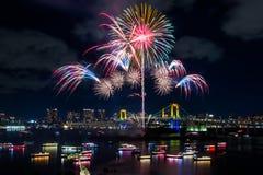 Πυροτεχνήματα ουράνιων τόξων Στοκ Εικόνες